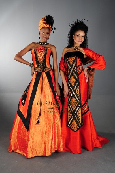 Traditional Ladies Shifting Sands African Couture