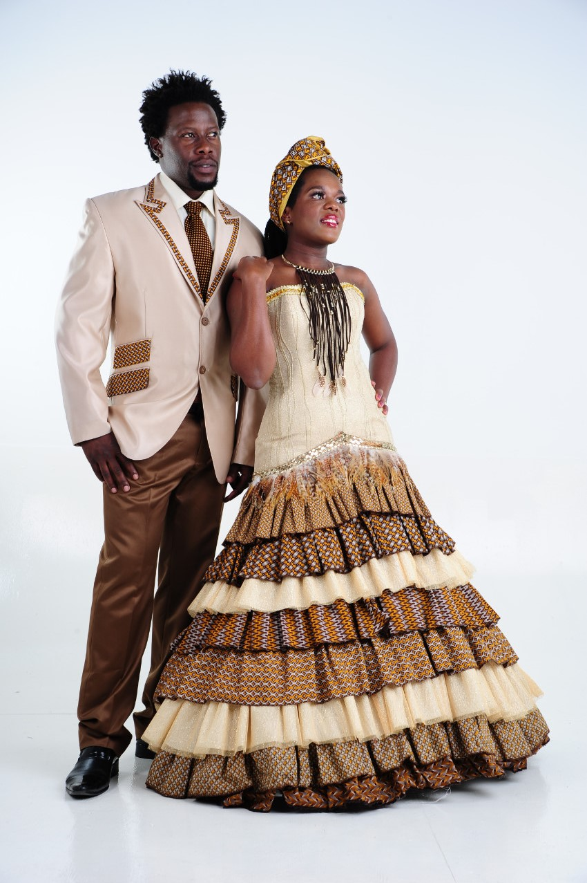 Traditional Couples Shifting Sands African Couture